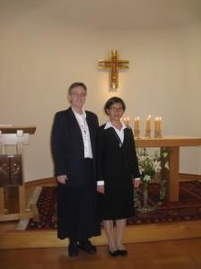 025 Optagelse Thea sammen med Sr. Anette 14.8.2012
